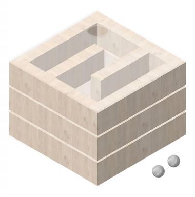 OPITEC PLUS LINE labirinto Cube, 1 pezzo