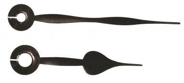 Agujas metálicas de reloj, par 65/45 mm, negras