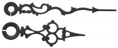 Agujas metálicas de reloj, par 60/42 antig, negras