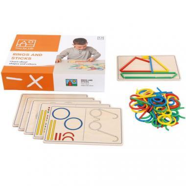 Toys for Life - Ringe und Stäbe, 107-teilig