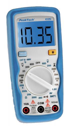 Multimètre numérique Peaktech 1035, M...,
