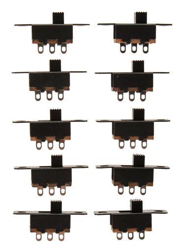 Interrupteurs à glissière, 10 pièces