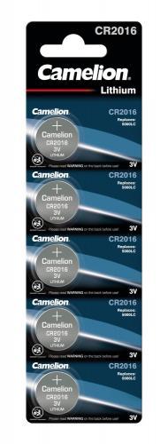 Camelion® batterie a bottone, 3 V CR2016, 5 pezzi