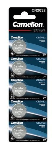 Pila de botón Camelion®, 3 V CR2032 litio, 5 ud