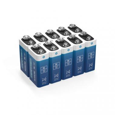 OPITEC Blockbatterie Standard 9 V, 10 Stück