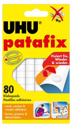 UHU patafix, 80 pad adesivi, bianco