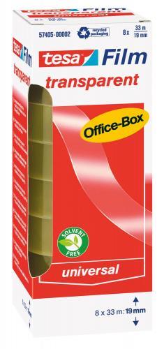 tesa Klebeband Office-Box (33 m x 19 mm) 8 Rollen