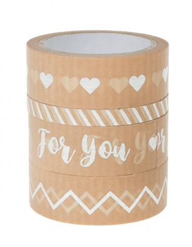Washi Tape - hotfoil carta Kraft, set da 4