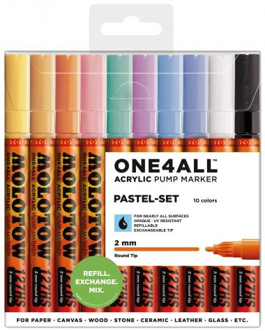 MOLOTOW[TM] ONE4ALL[TM] Acrylic Pump Marker Pastel