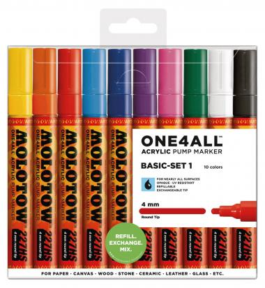 MOLOTOW[TM] ONE4ALL[TM] Acrylic Pump 4 mm - set 10