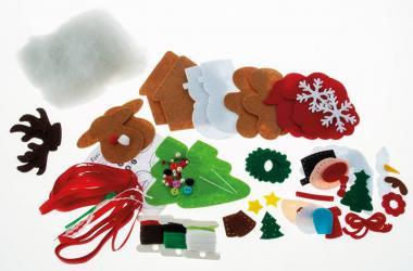 Set di cucito in feltro Filzinies ghirlanda Natale