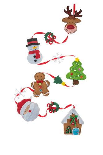 Set de couture feutrine - Guirlande de Noël