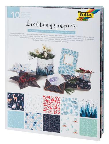 Carta con motivi, 50 x 70 cm, motivi invernali