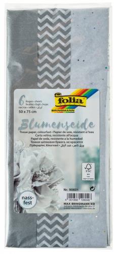 Set di carta seta - mix argento - 6 fogli