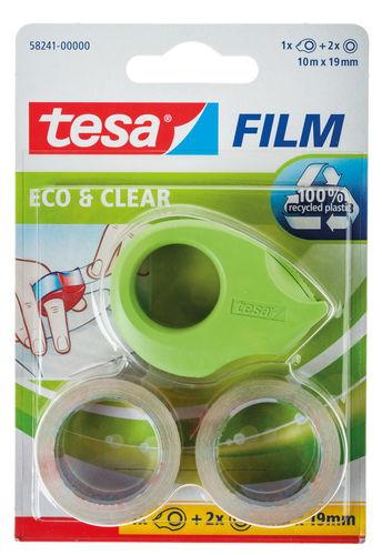 tesa Mini-Abroller Ecologo + 2 Rollen (19mm x 10m)