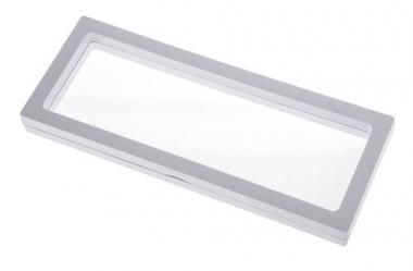 Display-Box mit Rahmen, weiß  (23 x 9 cm)
