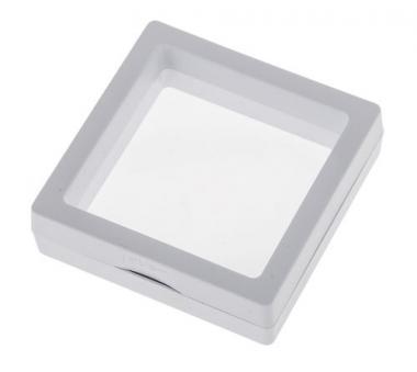 Marco expositor  (7 x 7 cm) blanco
