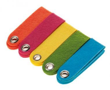 Llaveros de fieltro (10 x 3 cm) 5 colores