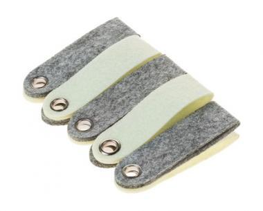 Llaveros de fieltro (10 x 3 cm) gris/beige,10 ud.