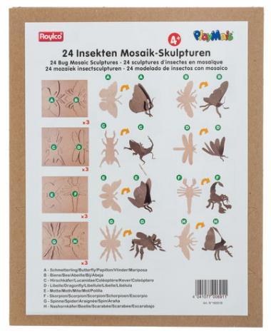 Figuras de cartón PlayMais® MOSAIC - Insectos