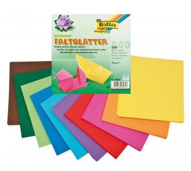 Carta origami colori intensi, 15x15 cm, 500 fogli