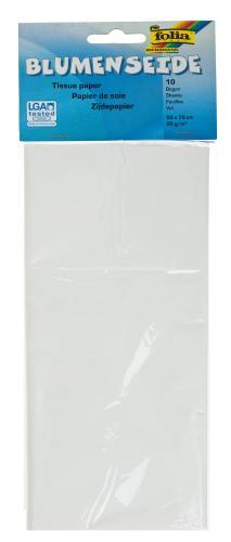 Papel de seda - 10 hojas de color blanco
