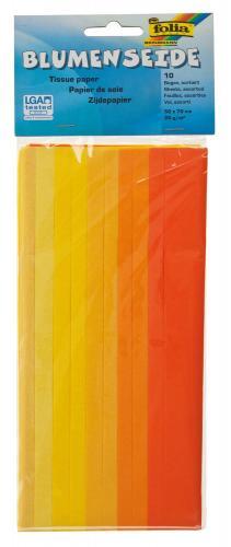 Lote de papel de seda, 10 hojas, tonos amarillos
