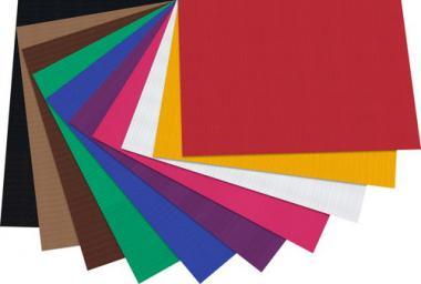 Cartoncino ondulato, 50x70cm, 10 fogli colori ass.