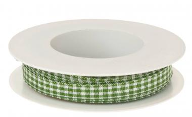 Nastro decorativo 'Vichy', 8mm/2m, verde/bianco