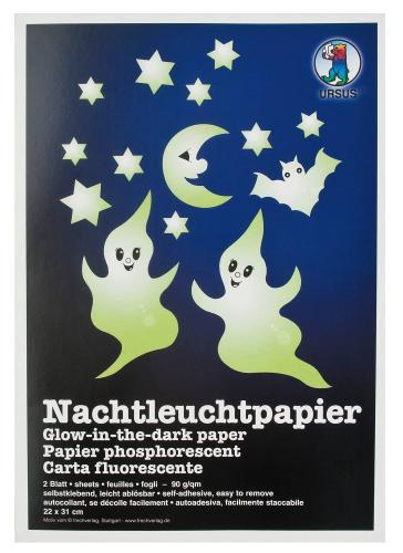 Carta fluorescente, 22x31 cm, 2 fogli