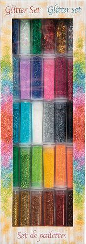 Glitter Set, 30 barattolini, colori assortiti