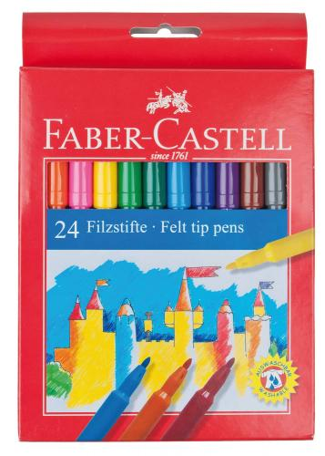Rotuladores Faber Castell, 24 ud.