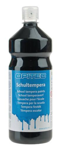 Témpera escolar Opitec , 1000 ml, negro