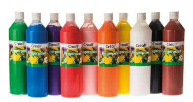 Lote de pintura para dedos Creall (10x750ml)