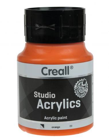 Pintura acrílica Creall 500 ml - naranja