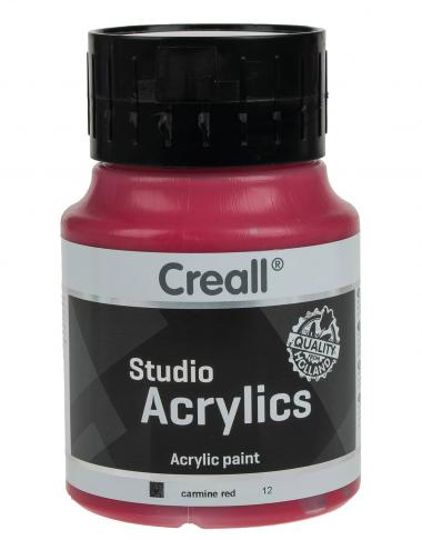 Creall Studio Acrylfarbe, 500 ml karminrot