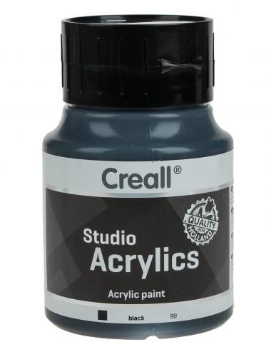 Creall Studio Acrylic, 500 ml, nero