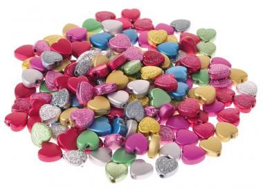 Perline decorative, 'cuori', ca. 160 pezzi