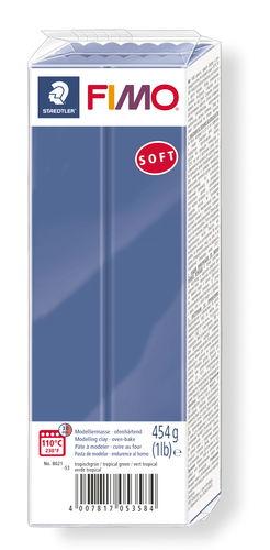 FIMO Soft conf. grande, 454g, blu brillante