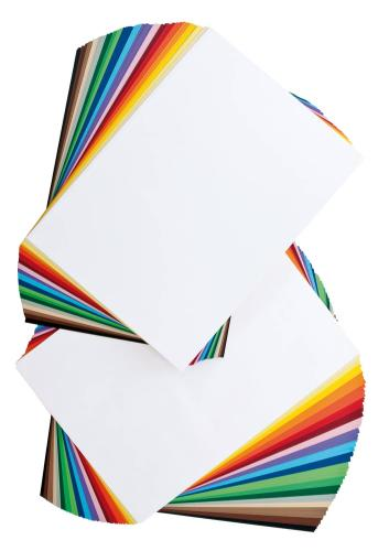 Gekleurd papier/fotokarton - voordeelset, 200 vel