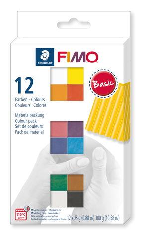 Arcilla polimérica FIMO® soft, 12 semi bloques