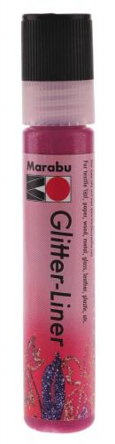 Glitter Liner Marabu, 25 ml rubin