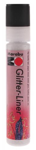 Glitter Liner Marabu, 25 ml weiß