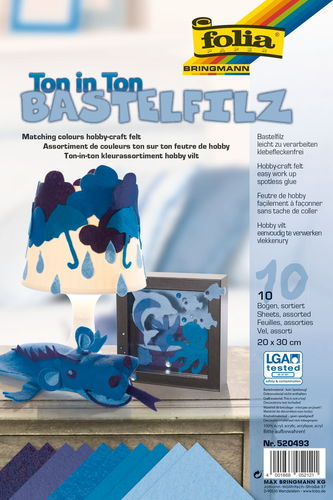Feutrine de bricolage, 100..., tons bleus