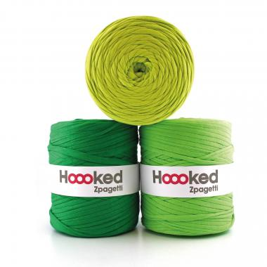 Trapillo HOOOKED Zpagetti (120 m) verde, 1 ud.