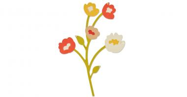 ..Sizzix Thinlits Die - Fresh Freesia