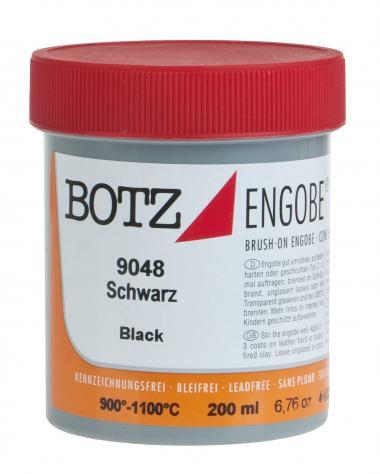 Flüssig-Engobe Botz, 200 ml schwarz