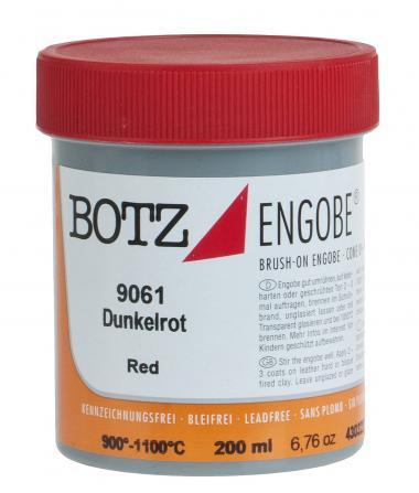 Flüssig-Engobe Botz, 200 ml dunkelrot