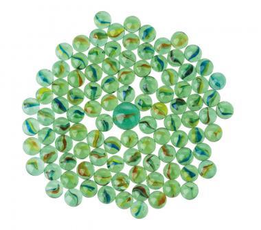 Biglie di vetro ø 15 e 25 mm, ca. 100 pezzi