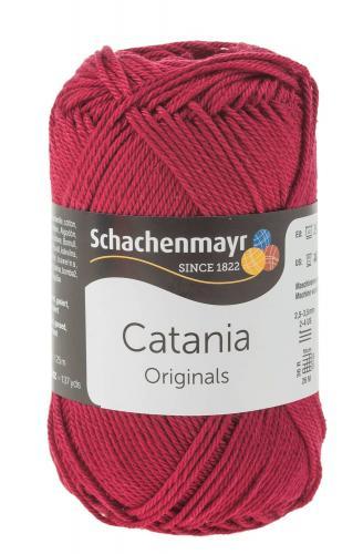 Filato 'Catania', 125m/50g, rosso vino